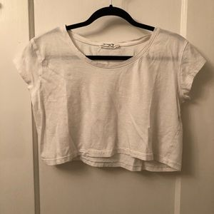 Zara white crop top